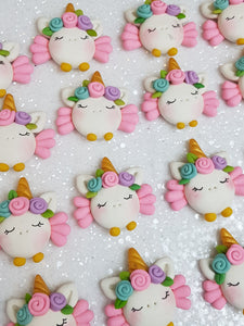 Clay Charm Embellishment - NEW UNICORN WITH WING - Crafty Mood
