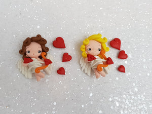 Clay Charm Embellishment - Cupid and Heart - Crafty Mood