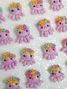 Clay Charm Embellishment - NEW OCTOPUS - Crafty Mood