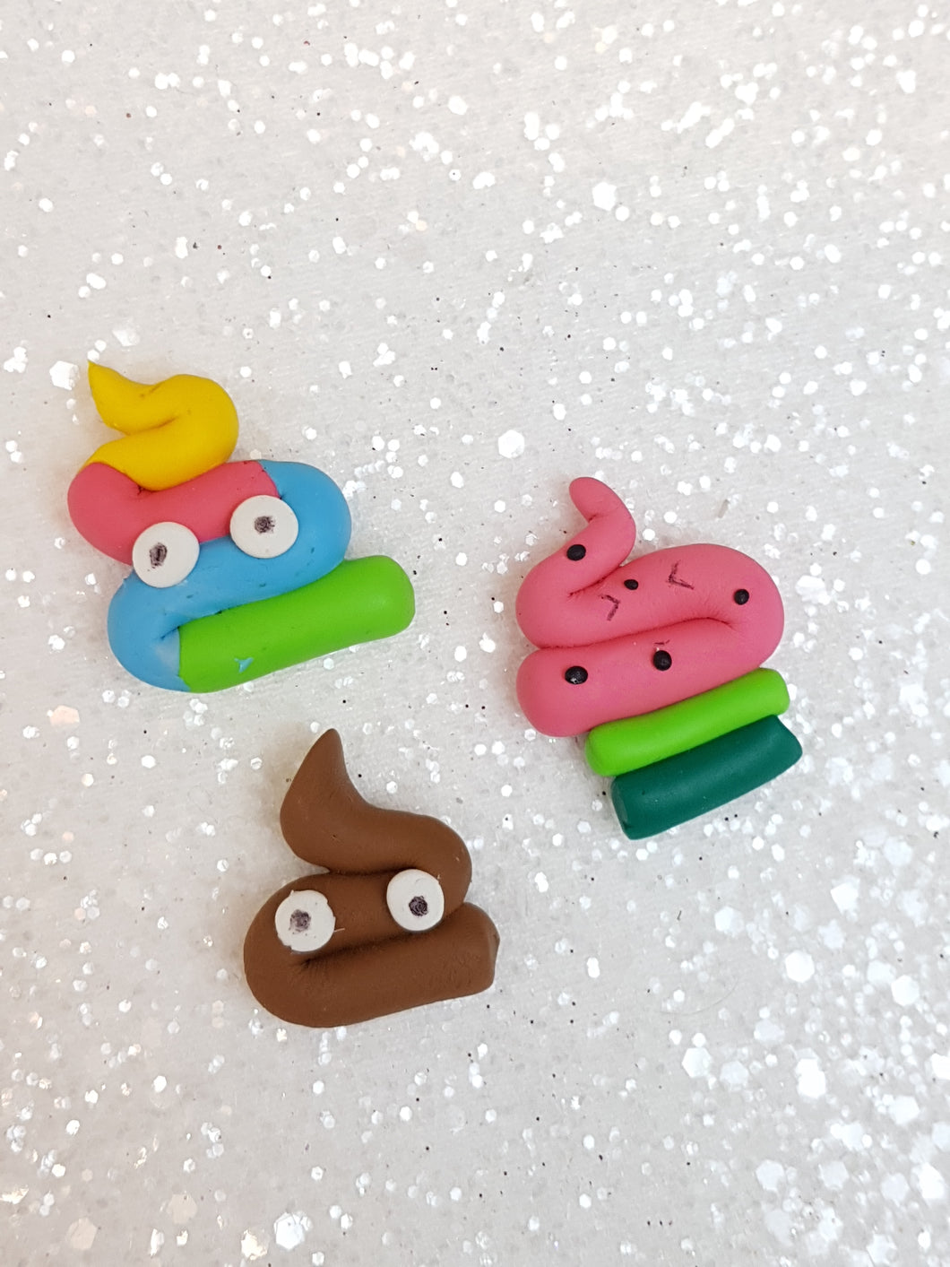 Handmade Flat Back Clay Embellishment poo - this week deal - Crafty Mood