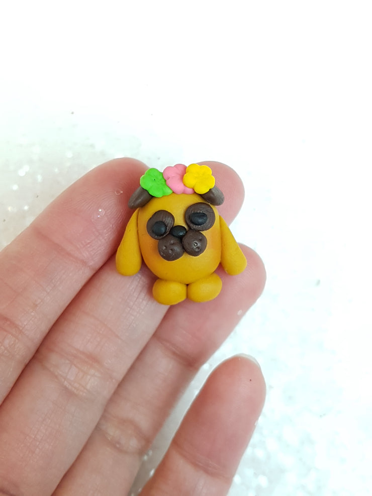 Clay Charm Embellishment - NEW PUG - Crafty Mood