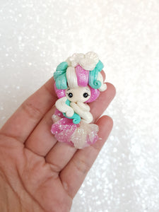 Clay Charm Embellishment - NEW SHIMMER WHITE MERMAID - Crafty Mood