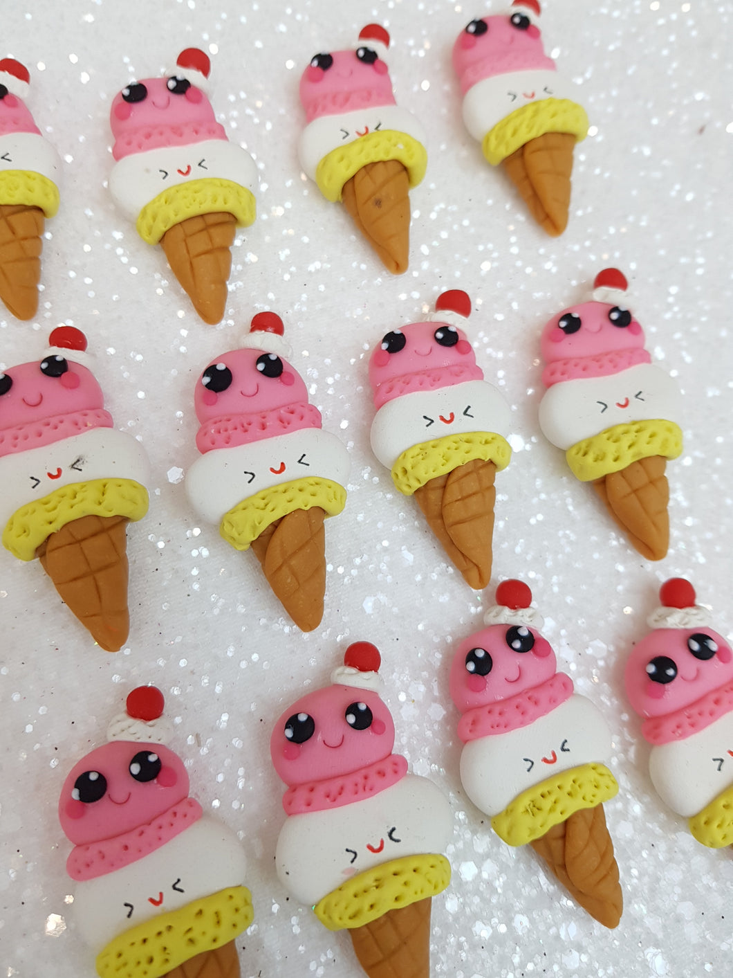Clay Embellishment NEW ICE CREAM ST - Crafty Mood