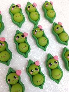 Clay Charm Embellishment - NEW PEA - Crafty Mood