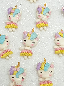 Clay Charm Embellishment NEW DANCING  UNICORN SH - Crafty Mood
