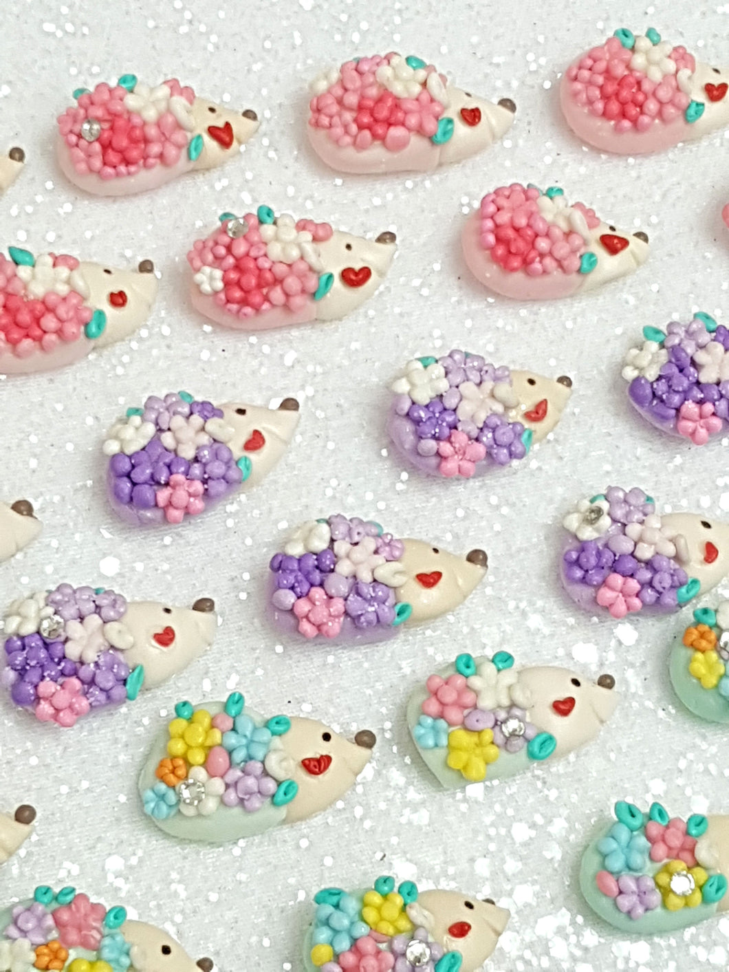 Clay Charm Embellishment - NEW HEDGEHOG in colors - Crafty Mood