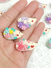 Load image into Gallery viewer, Clay Charm Embellishment - NEW HEDGEHOG in colors - Crafty Mood