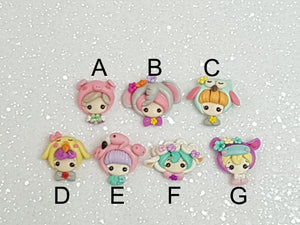 Clay Charm Embellishment - NEW DRESSING UP ANIMAL HEAD - Crafty Mood