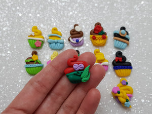 Clay Charm Embellishment - NEW MINI CUPCAKE - Crafty Mood