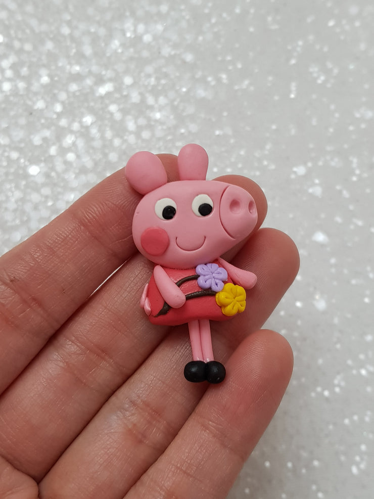 Clay Charm Embellishment - NEW PIG - Crafty Mood