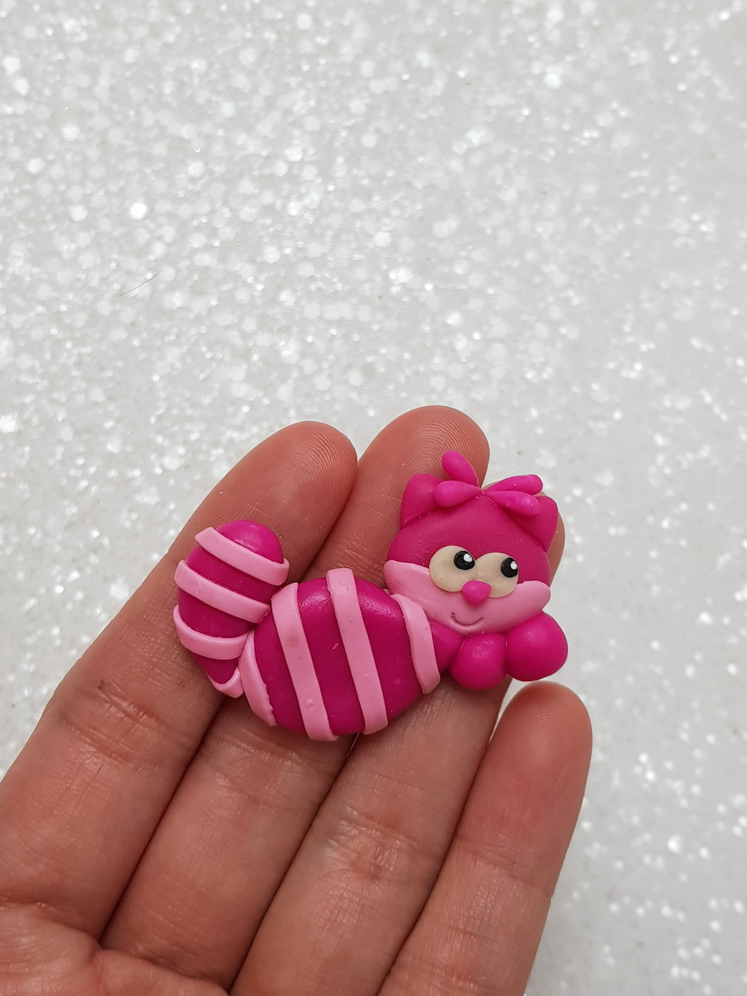 Clay Charm - NEW PINK CAT-EYES Glow in The Dark - Crafty Mood