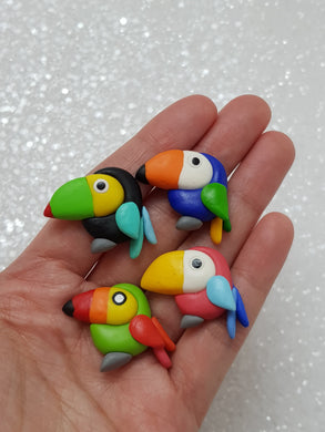 Handmade Flat Back Clay Embellishment NEW TOUCAN - Crafty Mood