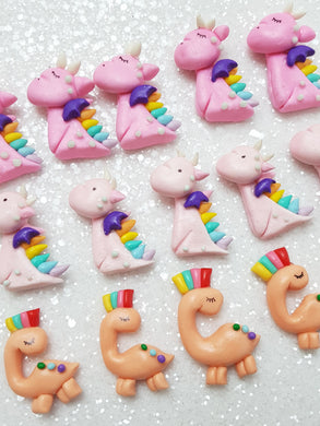 Clay Charm Embellishment - NEW DINOSAUR / DRAGON - Crafty Mood