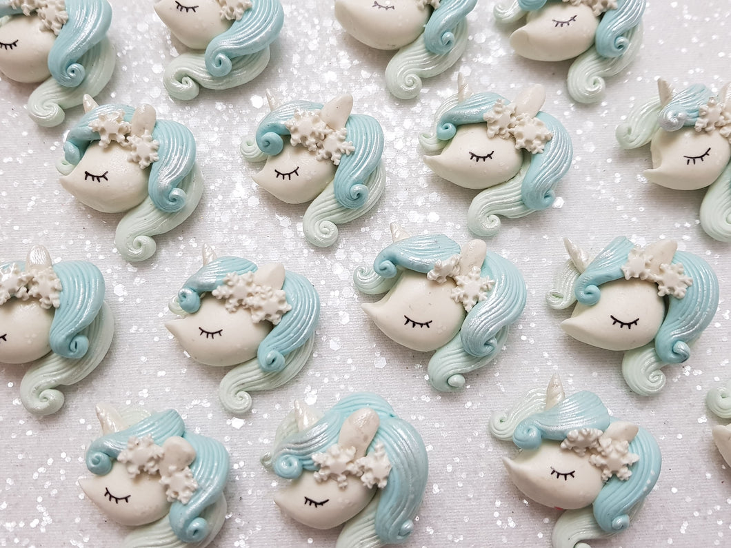 Clay Charm Embellishment - NEW UNICORN HEAD ICE - Crafty Mood