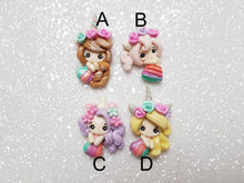 Load image into Gallery viewer, Clay Charm Embellishment - NEW RAINBOW UNICORN GIRL - Crafty Mood