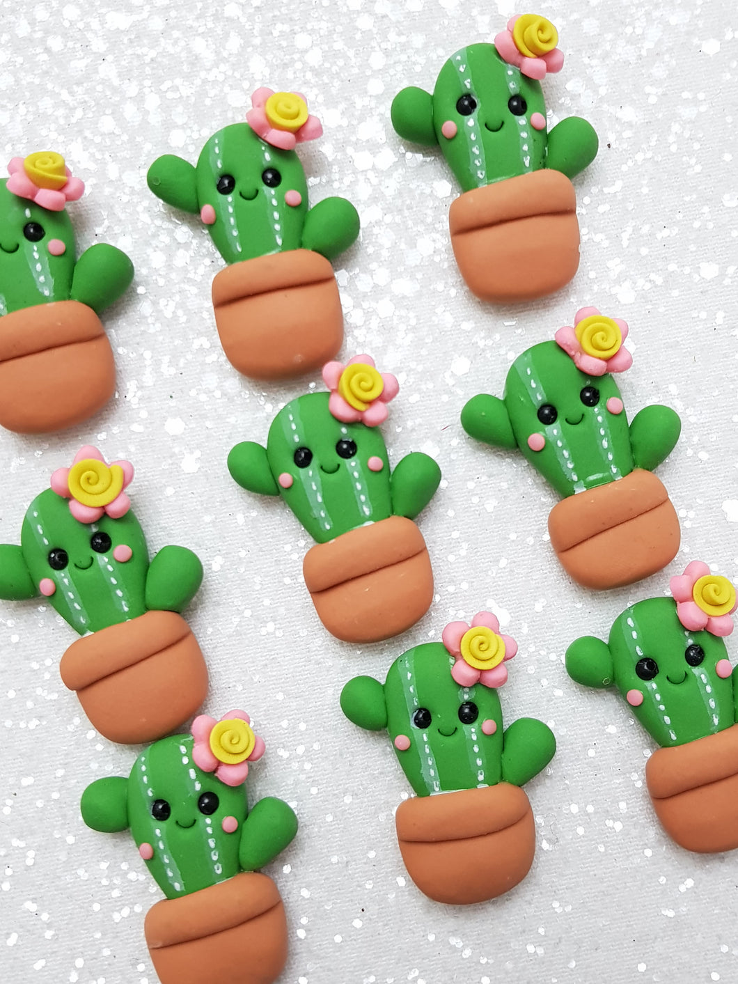 Clay Charm Embellishment - NEW CACTUS - Crafty Mood