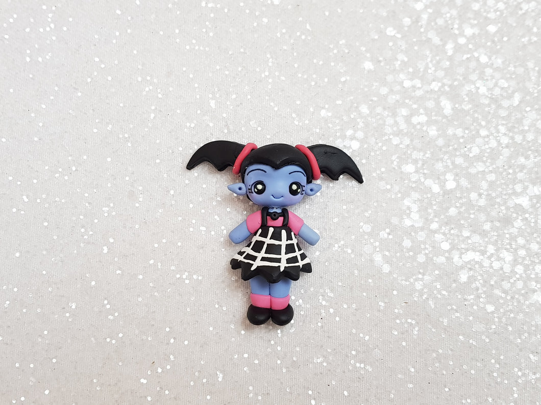Handmade Flat Back Clay Embellishment NEW VAMPIRE GIRL A - Crafty Mood