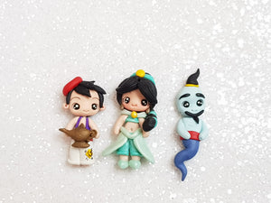 Clay Charm Embellishment - NEW PRINCESS AND FRIENDS E SET OF 3 - Crafty Mood