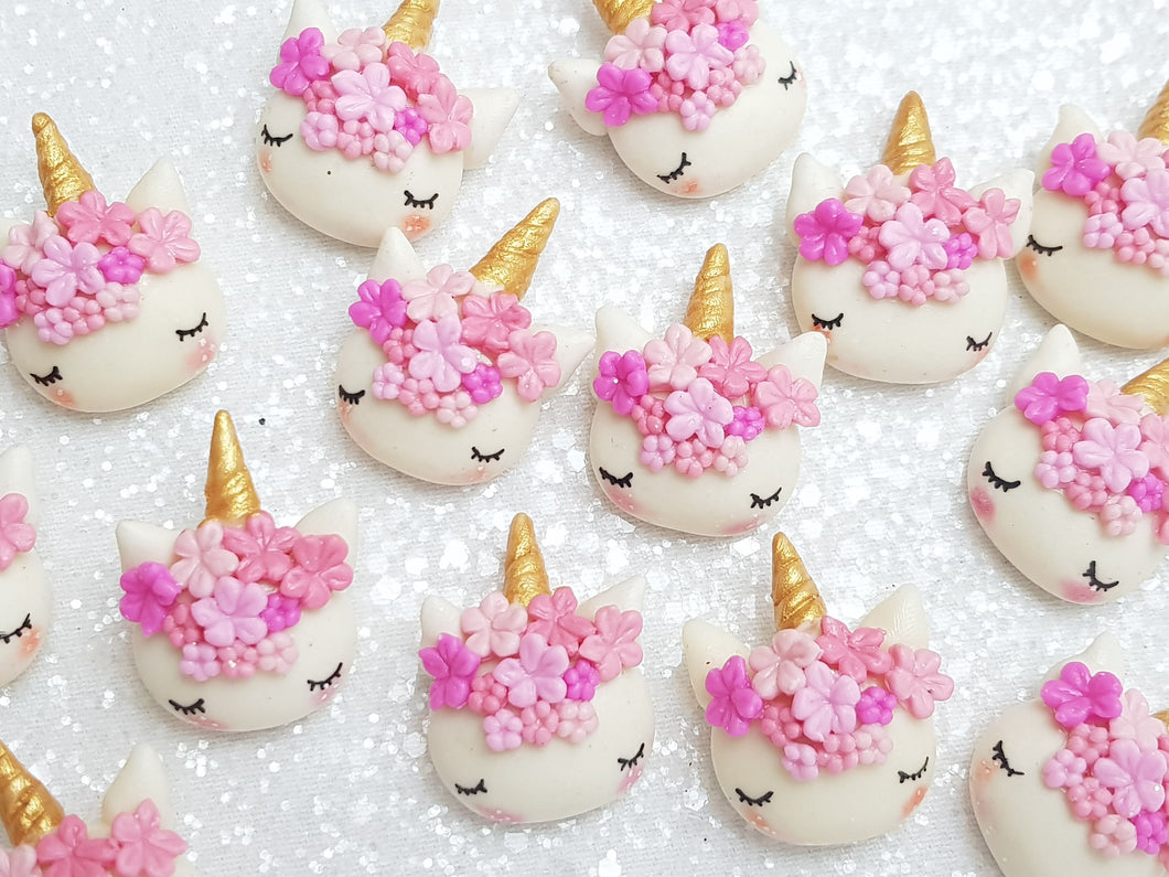 Clay Embellishment NEW SLEEPY UNICORN - PINK - Crafty Mood