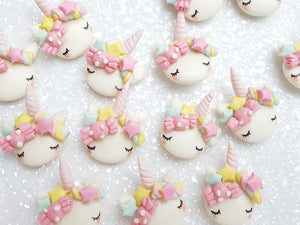 Clay Charm Embellishment - NEW CANDY SLEEPY UNICORN - B - Crafty Mood