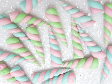 Handmade Flat Back Clay Embellishment NEW UNICORN HORN MARSHMELLOW - Crafty Mood