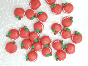 Clay Charm Embellishment - NEW APPLE - Crafty Mood