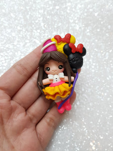 Clay Charm Embellishment - NEW BIRTHDAY MOUSE - Crafty Mood