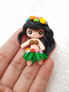 Clay Charm Embellishment - NEW HULLA GIRL - Crafty Mood