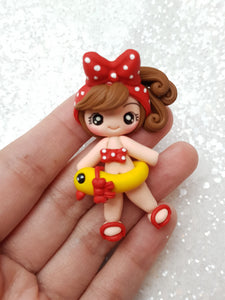 Clay Charm Embellishment - NEW FLOAT GIRL - Crafty Mood