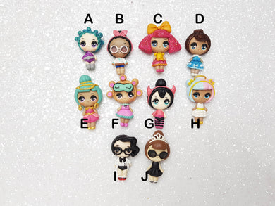 Clay Charm Embellishment NEW DOLL BIG EYES V3.0 SF - Crafty Mood
