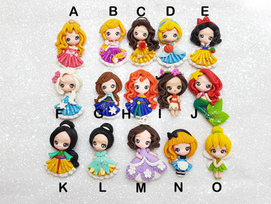 Clay Charm Embellishment NEW LIMITED PRINCESS SR - Crafty Mood