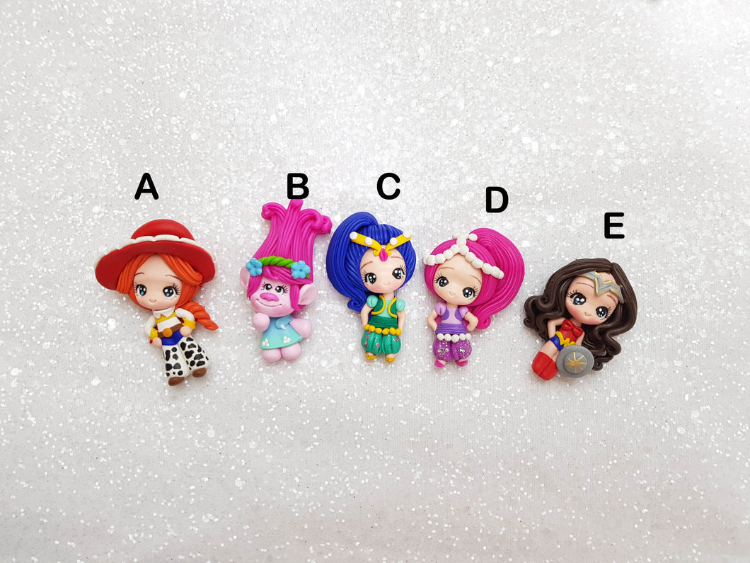 Clay Charm Embellishment - NEW LIMITED PRINCESS B - Crafty Mood