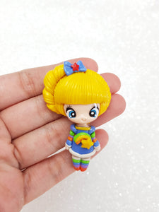 Clay Charm Embellishment - NEW LUXE RAINBOW GIRL - Crafty Mood