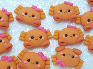 Clay Charm Embellishment - NEW CRAB ORANGE - Crafty Mood
