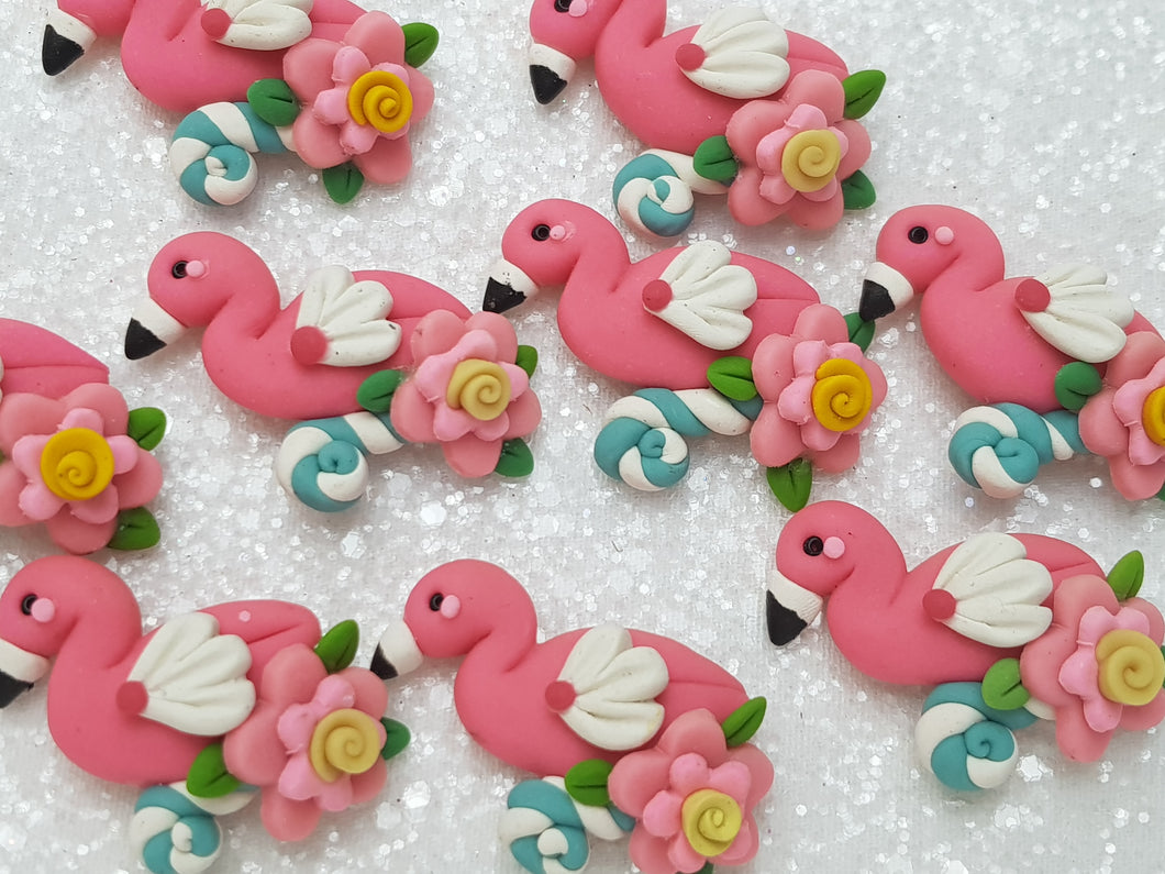 Clay Charm Embellishment - FLAMINGO - Crafty Mood