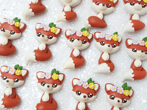 Clay Charm Embellishment - NEW Fox - Crafty Mood