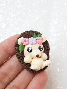 Clay Embellishment NEW hedgehog SA - Crafty Mood