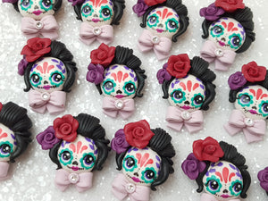 Clay Charm Embellishment - NEW Sugar Skull Halloween - Crafty Mood