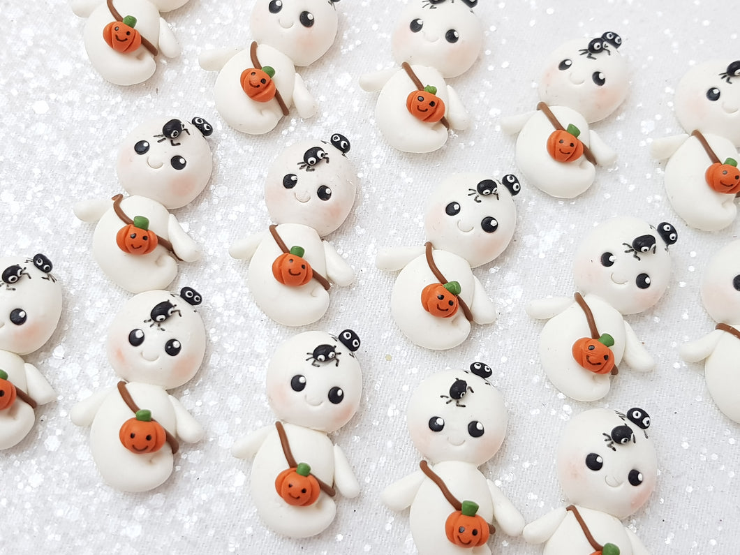 Flat Back Clay Embellishment NEW ghost halloween - Crafty Mood