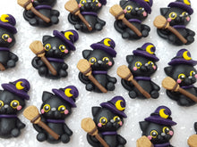 Load image into Gallery viewer, Clay Charm Embellishment - NEW Cat Halloween - Crafty Mood