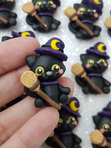 Clay Charm Embellishment - NEW Cat Halloween - Crafty Mood