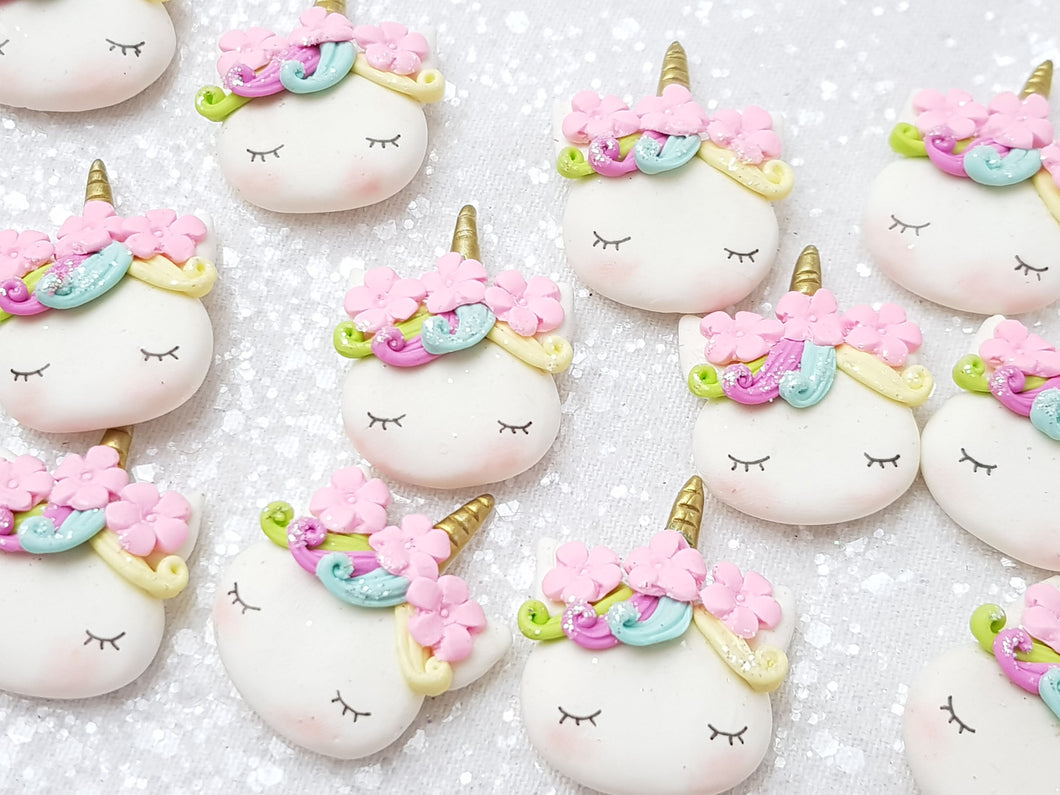 Clay Charm Embellishment - NEW Sleepy Unicorn H - Crafty Mood