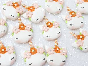 Flat Back Clay Embellishment NEW sleepy unicorn - Crafty Mood