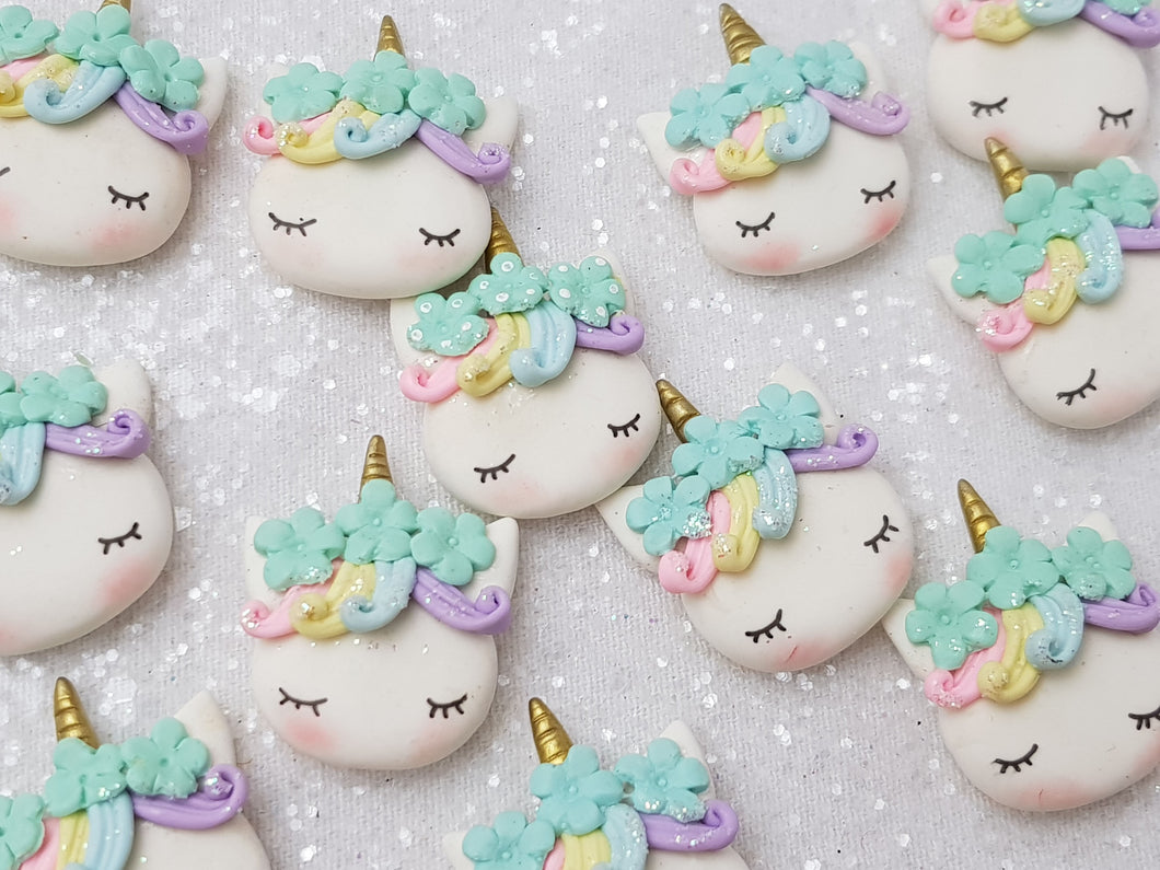 Clay Charm Embellishment NEW sleepy unicorn N - Crafty Mood