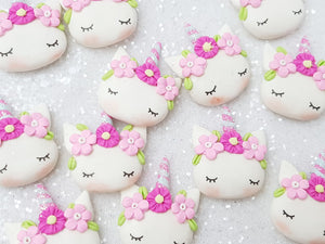 Clay Charm Embellishment - NEW Sleepy Unicorn O - Crafty Mood