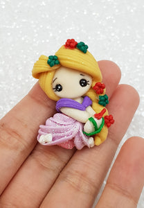 Clay Charm Embellishment - Christmas Rapz 4 cm SH - Crafty Mood