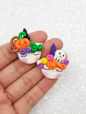 Handmade Flat Back Clay Embellishment New unicorn halloween
