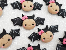 Load image into Gallery viewer, Clay Charm Embellishment - Bat Halloween - Crafty Mood