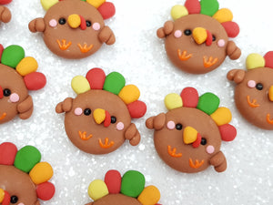 Clay Embellishment turkey halloween ST