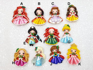 Flat Back Clay Embellishment NEW christmas princess